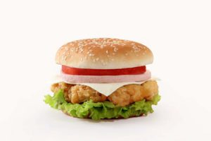 Fast food chicken sandwich