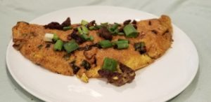 Homemade Sausage and Scallion Omelet