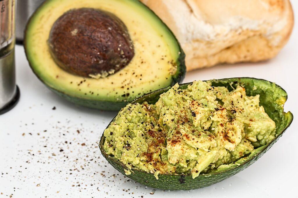 Guacamole Inside an avocado